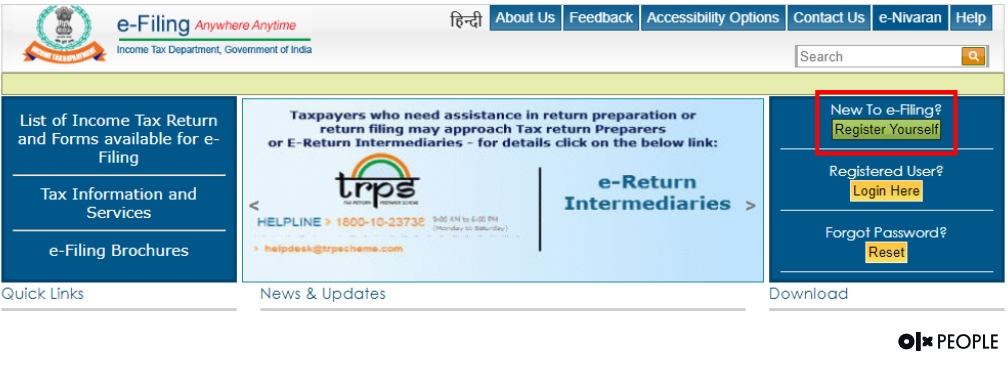 income tax registration