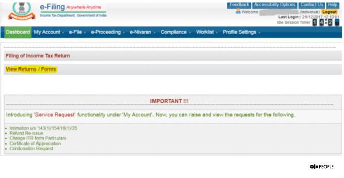 ITR refund status