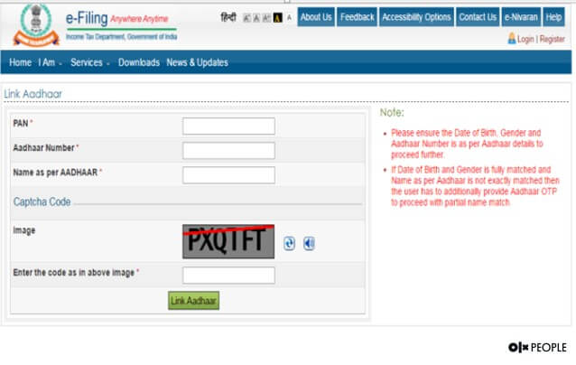 Linking Aadhaar Card with Income Tax Returns