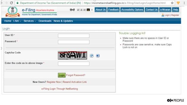 Aadhaar Card with Income Tax Returns linking