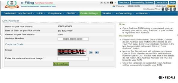 link Aadhaar to ITR